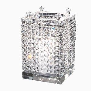 Großer quadratischer Nefertari Kerzenständer aus Kristallglas von Giorgio Tesi für VGnewtrend