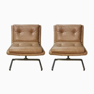 Vintage Lounge Chairs by Raphael Raffel, Set of 2