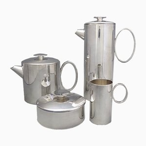 Mercury Silver Plated Coffee/Tea Service by Lino Sabattini for Christofle, 1970s
