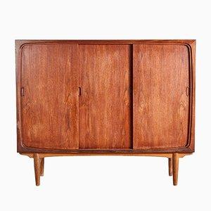 Mueble alto danés Mid-Century de teca, años 60