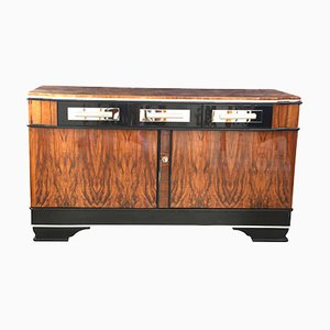 Vintage German Bauhaus Walnut Sideboard, 1930s