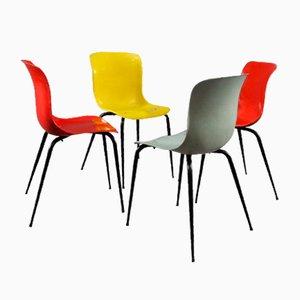 Mehrfarbige Stühle aus Glasfaser von Sonett, 1950er, Set of 4