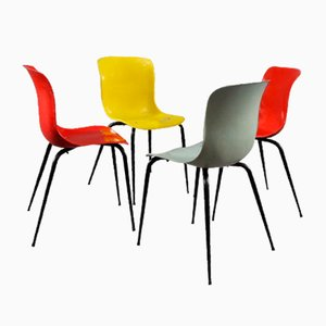 Multi-Colored Fiberglass Chairs from Sonett, 1950s, Set of 4