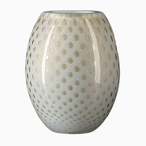 Oval Gold & Light Gray Mocenigo Vase by Marco Segantin for VGnewtrend