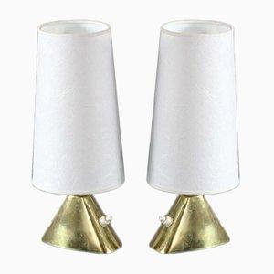 Lámparas de mesa austriacas de JT Kalmar, años 50. Juego de 2
