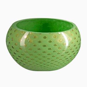 Gold & Green Murano Glass Mocenigo Bowl by Marco Segantin for VGnewtrend