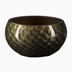 Black & Gold Murano Glass Mocenigo Bowl by Marco Segantin for VGnewtrend