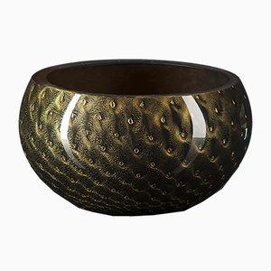 Scodella Mocenigo in vetro di Murano nero e oro di Marco Segantin per VGnewtrend
