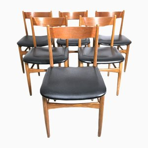 Vintage Italian Dining Chairs, 1960s, Set of 6