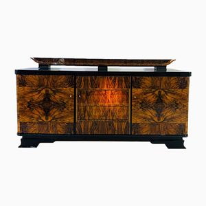 Art Deco Walnut and Shellac Sideboard, 1920s