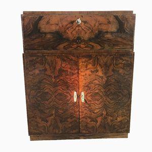 Art Deco Style Walnut Commode Cabinet, 1940s
