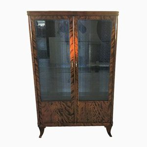 Art Deco Style Birch Wood Display Cabinet, 1940s