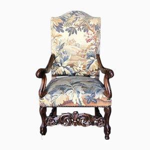 Carolean Style Walnut Armchair, 1870s