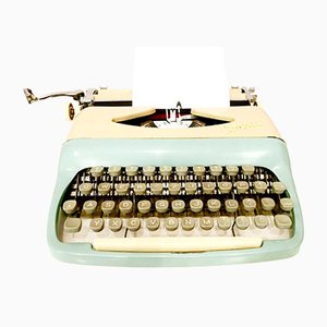 Vintage 232 Typewriter & Travel Case from Consul, 1950s