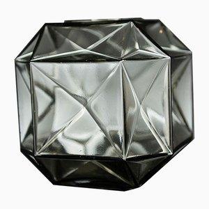 Kleine italienische Buranovase aus grauem & durchsichtigen Muranoglas von Marco Segantin für VGnewtrend