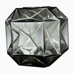 Small Italian Transparent & Grey Murano Glass Burano Vase by Marco Segantin for VGnewtrend