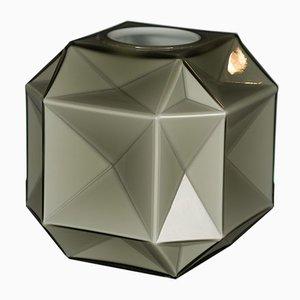 Kleine hellgraue Muranoglasvase von Marco Segantin für VGnewtrend