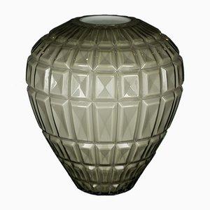 Italienische hellgraue Marostica Vase aus Muranoglas von Marco Segantin für VGnewtrend