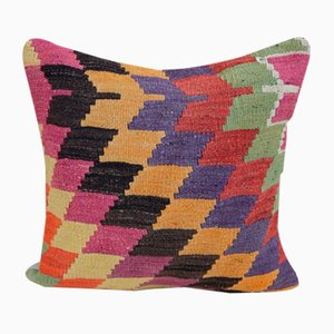 Colorful Turkish Kilim Cushion Cover from Vintage Pillow Store Contemporary, 2010s