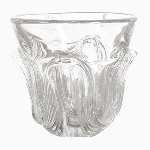 Vase en Verre de Val Saint Lambert, 1930s