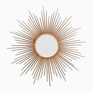 Espejo grande en forma de sol de Chaty Valluris, años 40