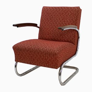S411 Chromed Lounge Chair from Mücke Melder, 1930s