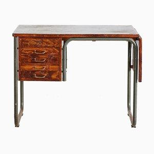 Dänischer Vintage Schreibtisch mit Röhrengestell, 1950er