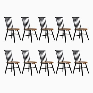 Fanett Dining Chairs, 1960s, Set of 10