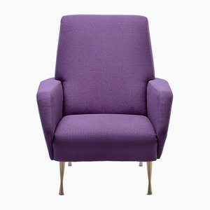 Fauteuil Upcycled Violet, Italie, 1950s