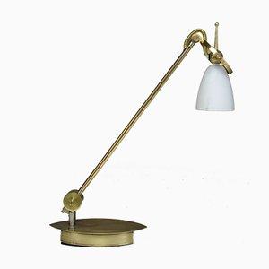 Lámpara de mesa vintage de latón, años 80