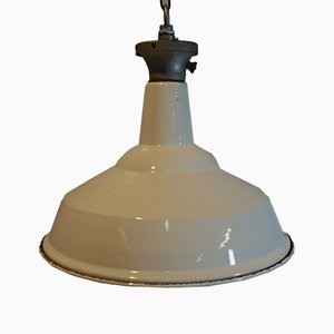 Lampe d'Usine en Émail de Benjamin Electric Manufacturing Company, 1940s