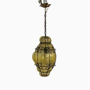 Vintage Lampe aus Muranoglas