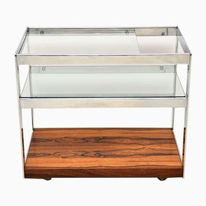Rosewood & Chrome Drinks Trolley by Richard Young for Merrow Associates, 1970s