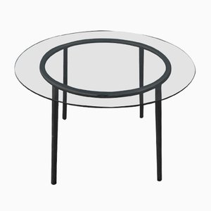 Round Glass and Chrome Table, 1970s