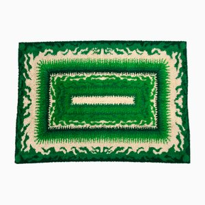 Alfombra Rya danesa Mid-Century en verde de Viking