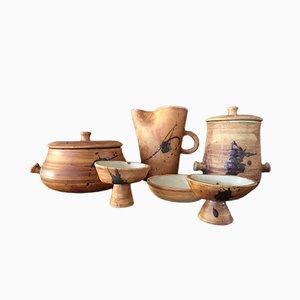 Juego de cerámica Vallauris de La Poterie de la Colombe, años 60