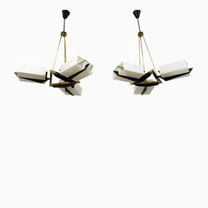 Italian Chandeliers from Stilux Milano, Set of 2, 1960s