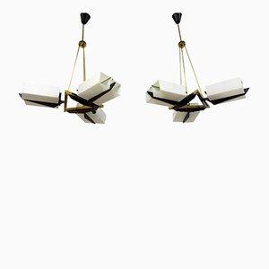 Lámparas de araña italianas de Stilux Milano. Juego de 2, años 60