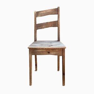 Skulpturaler skandinavischer Vintage Stuhl aus Fichtenholz