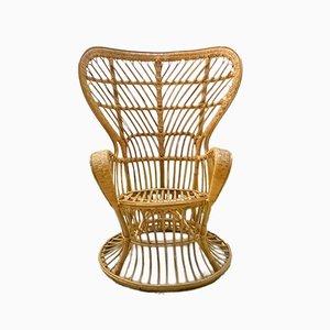 Vintage Rattan Armchair by Lio Carminati & Gio Ponti for Casa e Giardino, 1950s