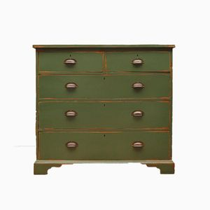 Antique Green Chest of Drawers