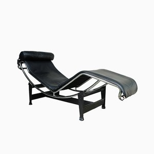 Vintage LC4 Chaise Longue by Le Corbusier, Jeanneret & Perriand for Cassina, 1980s