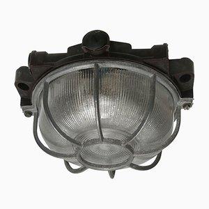 Lampada da soffitto vintage industriale in bachelite
