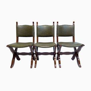 Vintage Holzstühle, 1970er, 3er Set