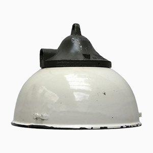 Vintage White Enamel Industrial Aluminium Pendant Light