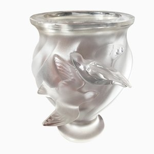 Small Rosine Vase by Marie Lalique, 1950s