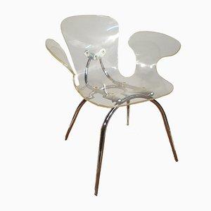 Stuhl aus Plexiglas, 1980er