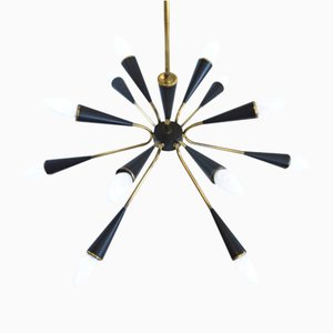 12-armiger Sputnik Kronleuchter, 1960er