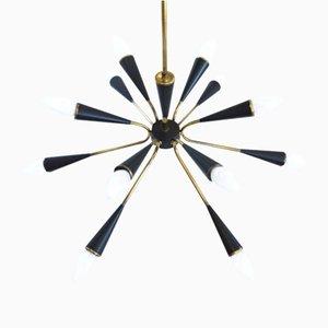Lámpara de araña Sputnik con 12 brazos, años 60