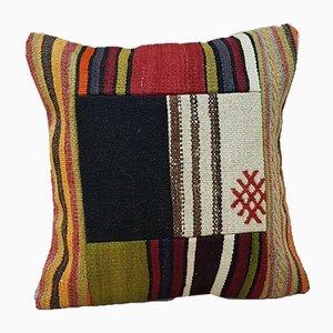 Türkischer Patchwork Kelim Kissenbezug von Vintage Pillow Store Contemporary, 2010er
